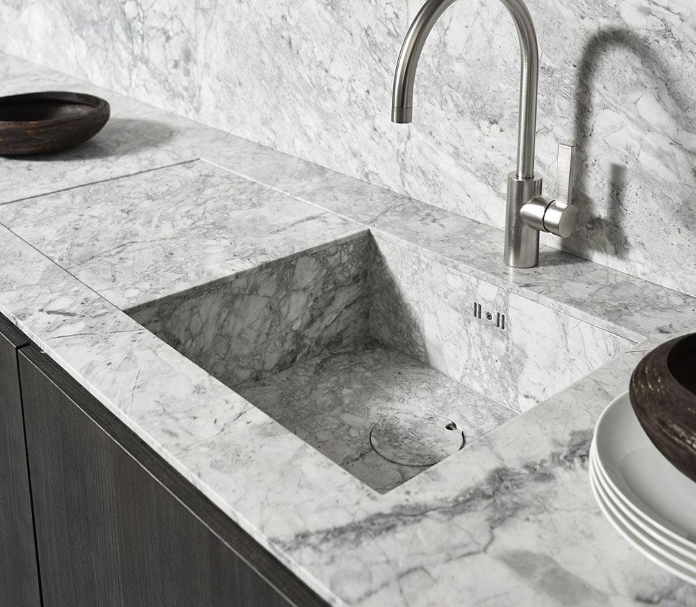 Bianco Nuvola Unique Stone Sink