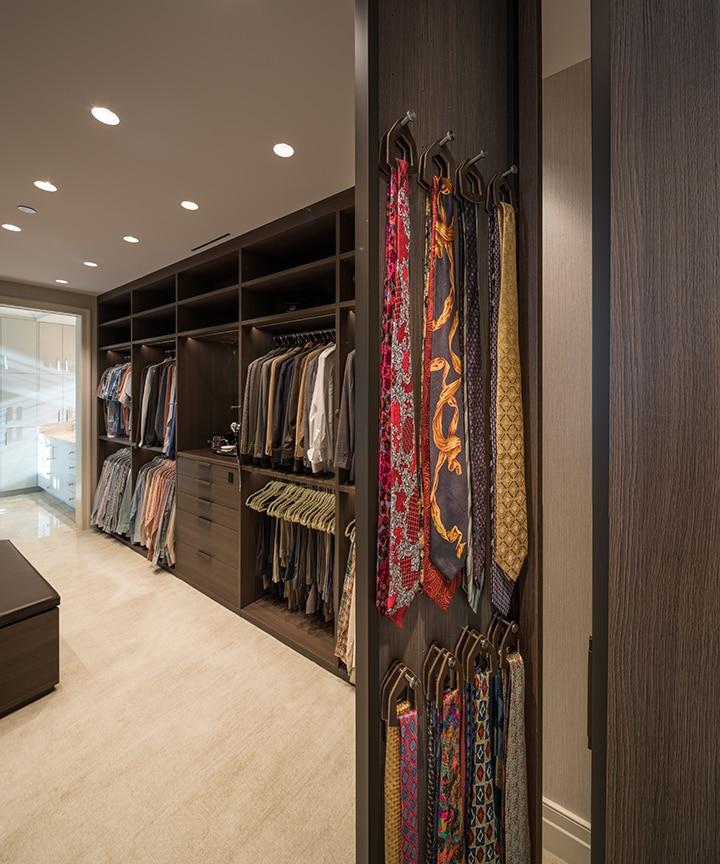 tie storage in a Schmalenbach closet for him