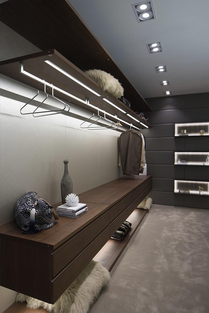 custom luxury walk-in closet from german cabinetry