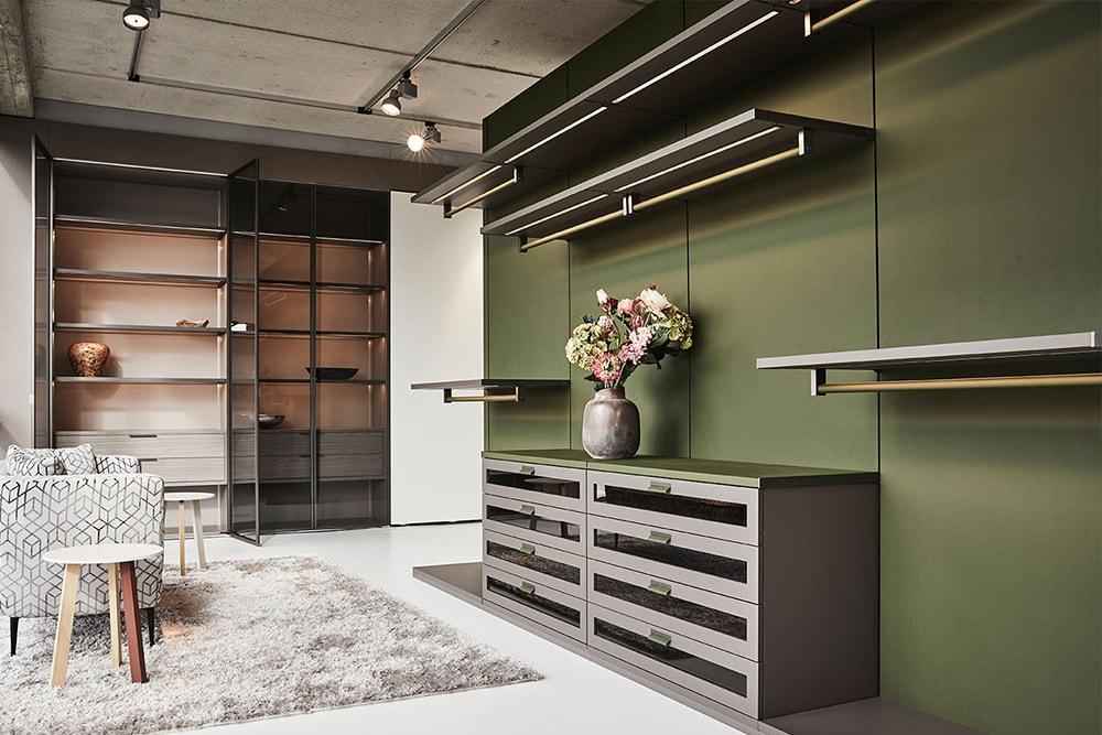custom luxury walk-in closet by schmalenbach