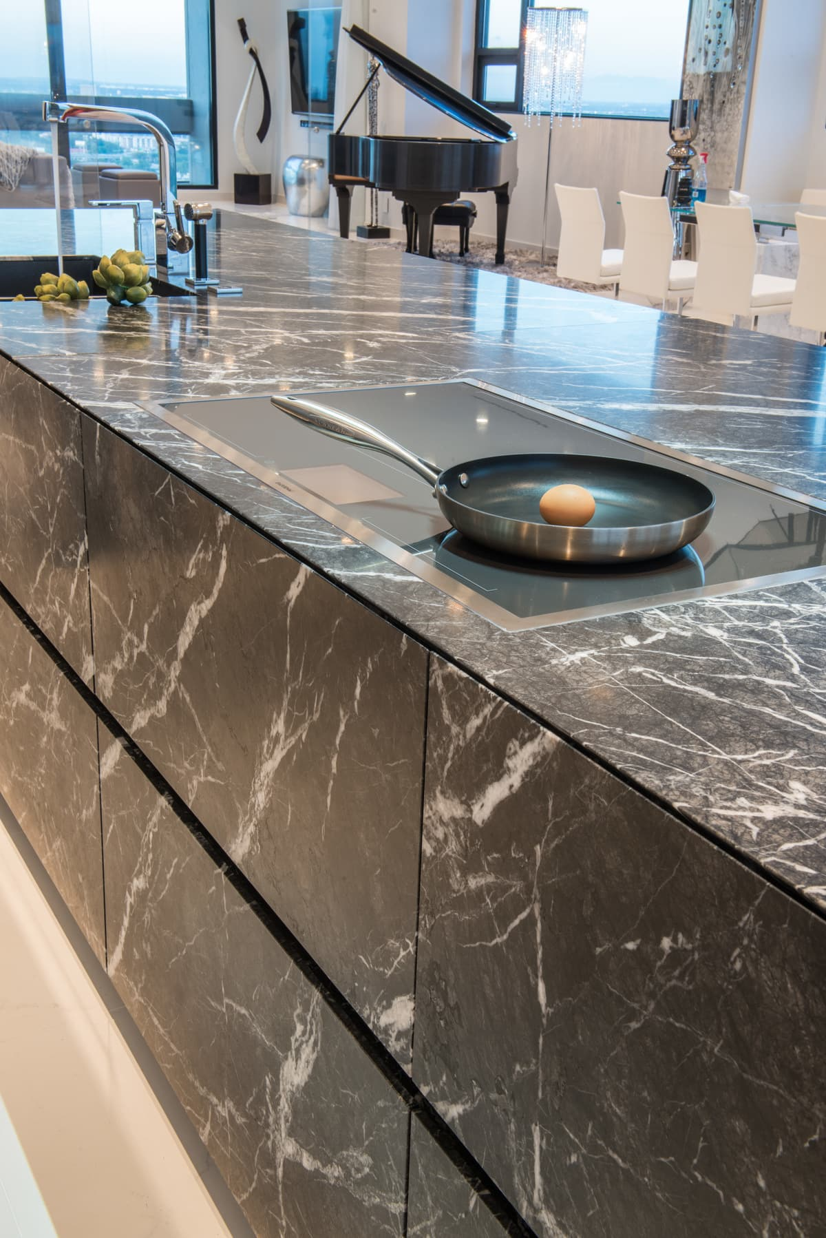 Gaggenau induction cooktop in the Unique stone island