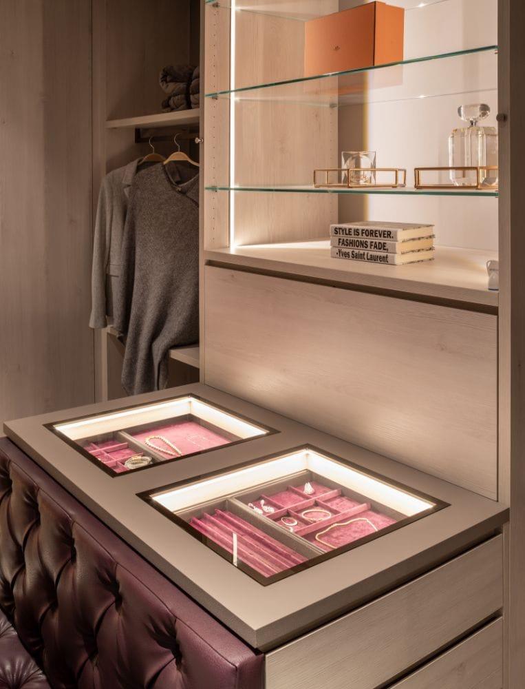 Glass-Top Velvet-Lined Jewelry Storage by Schmalenbach