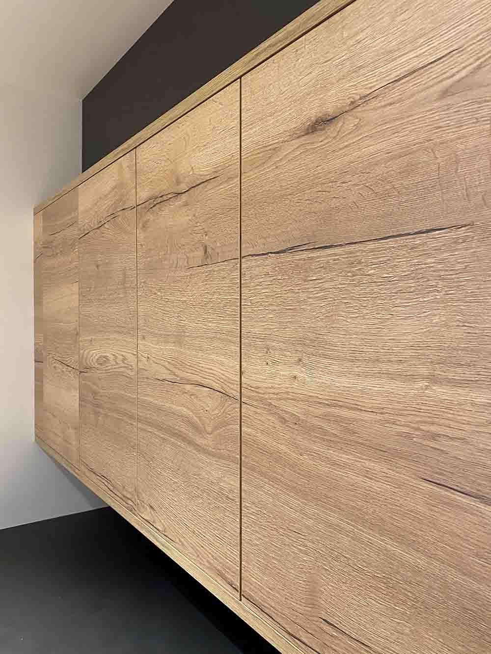 2902 Halifax Oak Horizontal finish on german cabinets in Scottsdale eggersmann showroom display
