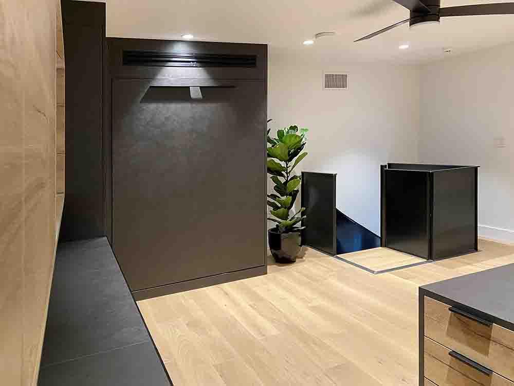 murphy bed in luxury finish in up position in Scottsdale eggersmann studio