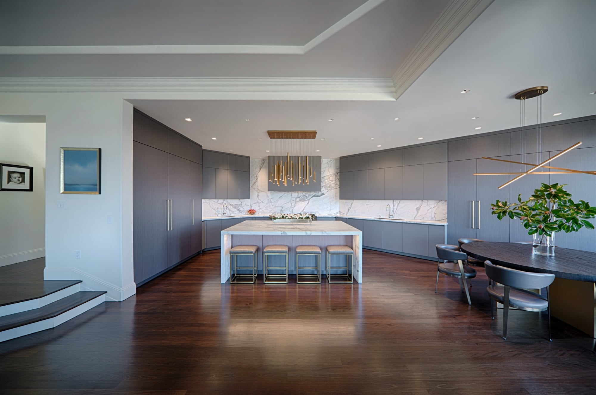 Grey Luxury German Kitchen by eggersmann