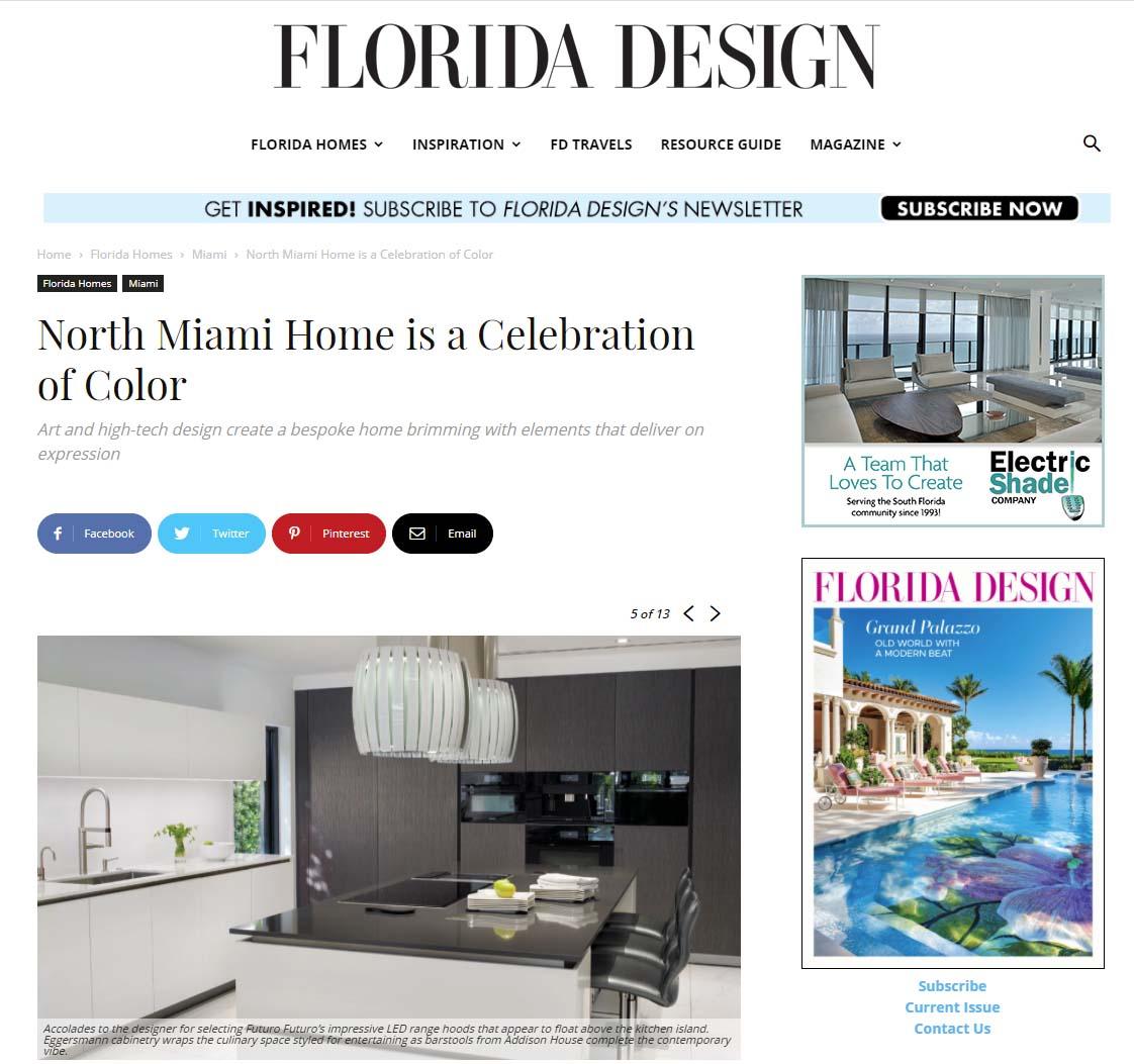 Florida Design features eggersmann kitchen