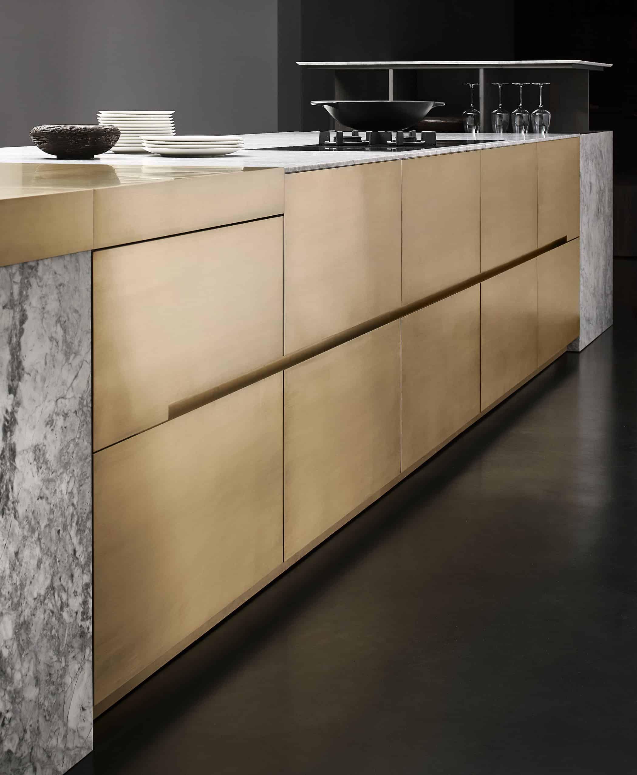 handleless german cabinets make an ultra-modern statement