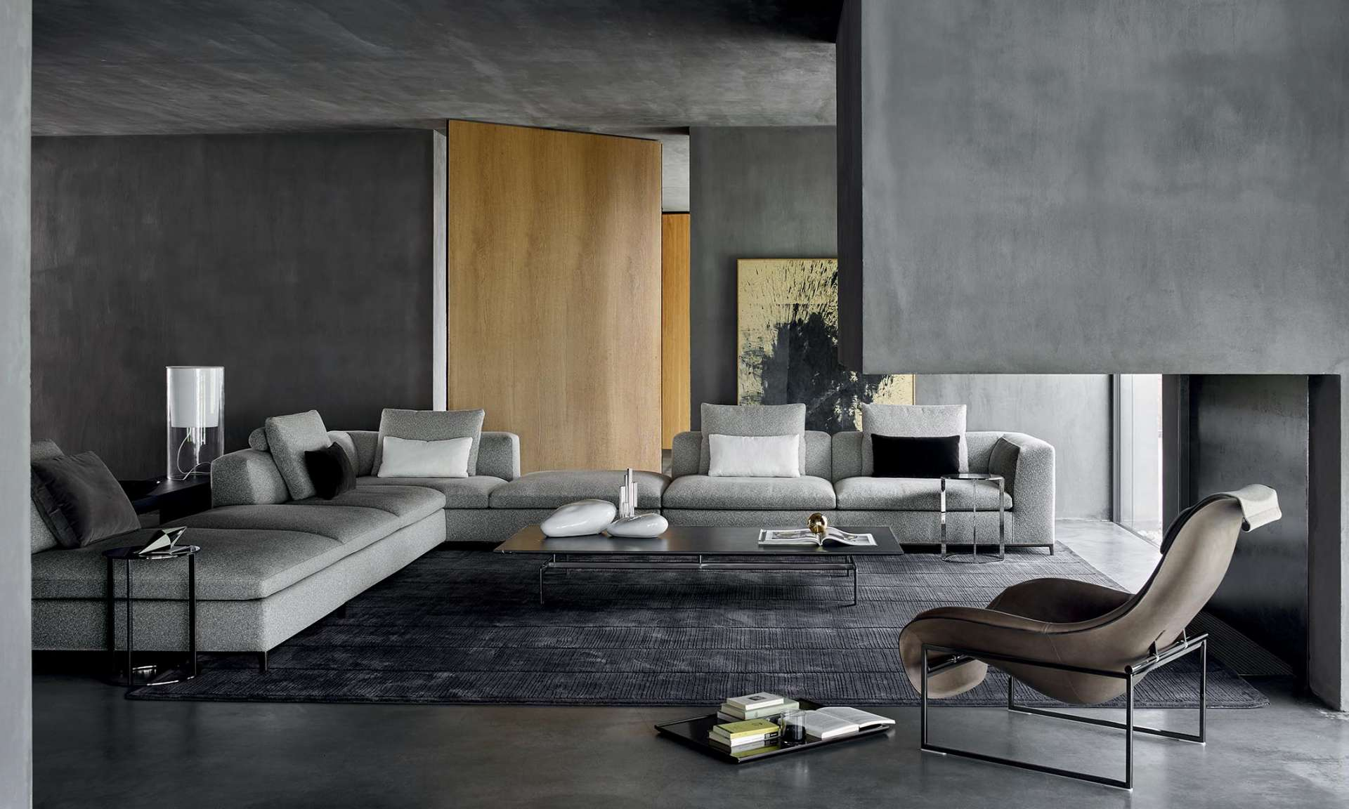 B&B Italia Michel Club sofa by Antonio Citterio
