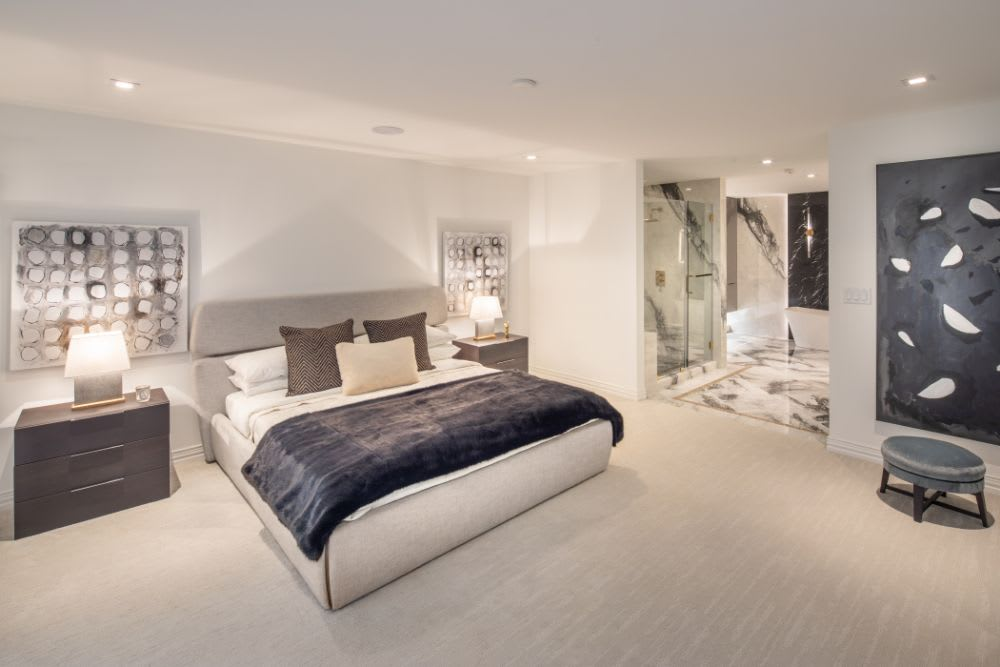 master bedroom of the paramount luxury highrise residence