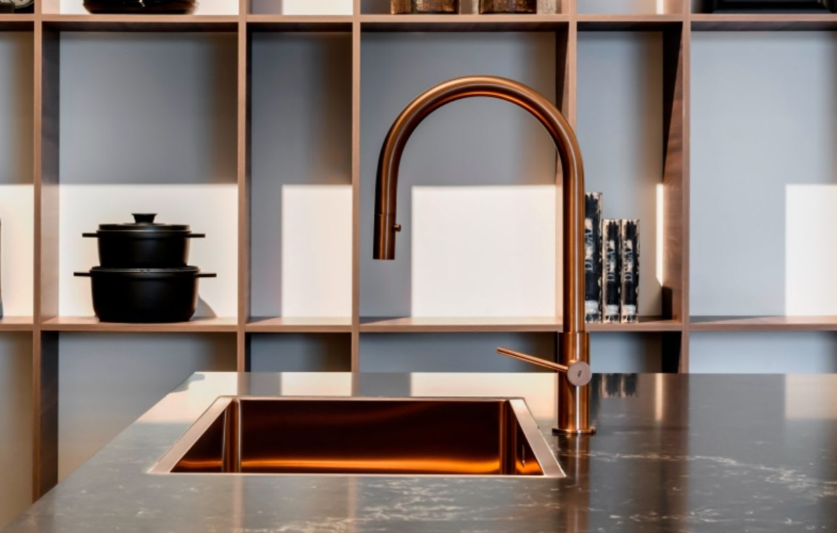 rose gold finished luxury quality kitchen faucet by mgs