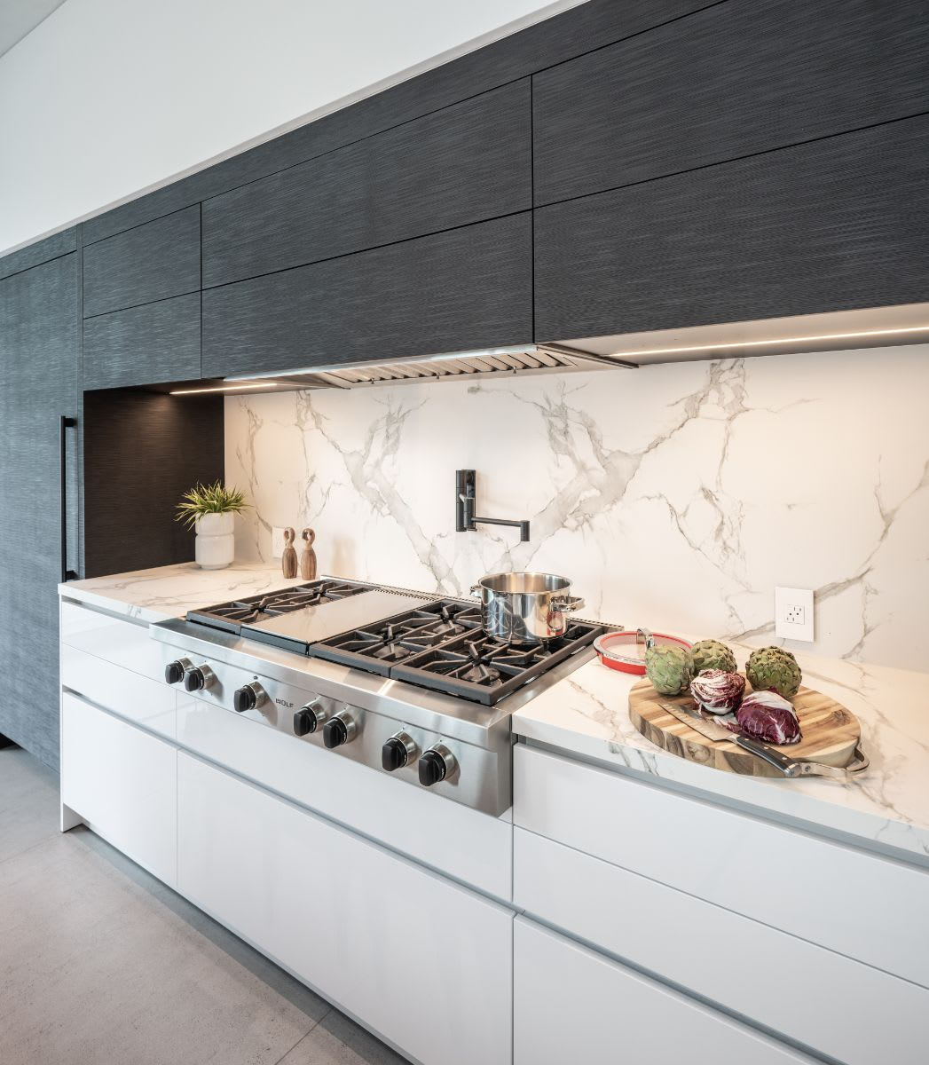 sub-zero refrigeration and wolf cooktop display at an eggersmann showroom