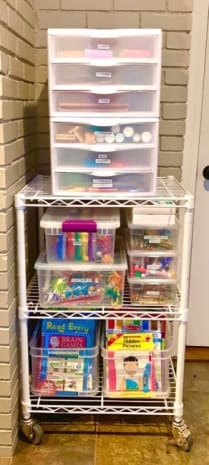 see-through organizers that fit your supplies make tidying up a breeze