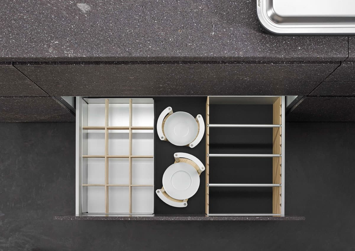 BoxTec - Light Ash plate and bowl holders, dry good storage and bottle holders