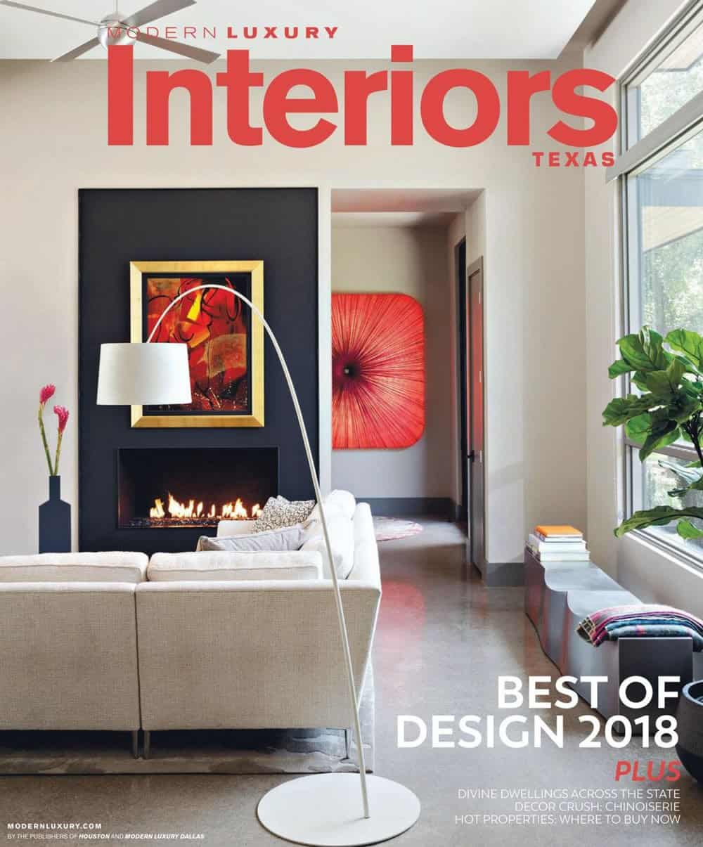 Modern Luxury Interiors Texas magazine cover for January 2018 edition