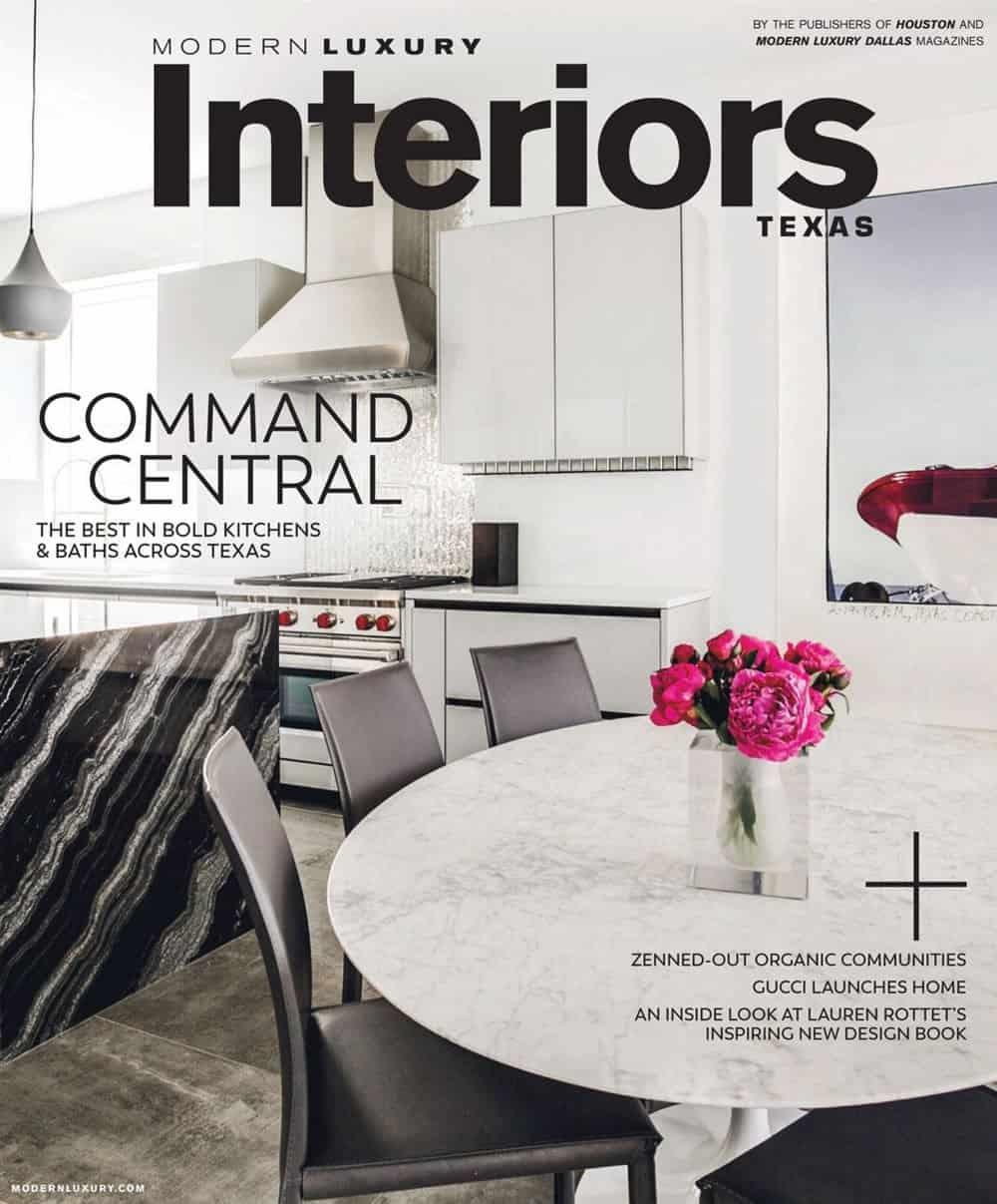 Modern Luxury Interiors Texas magazine cover for November 2017 edition