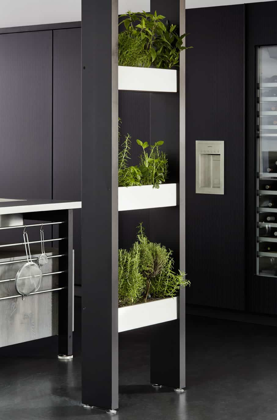 Works Ribbed glass turn units with Planter and Herb garden containers