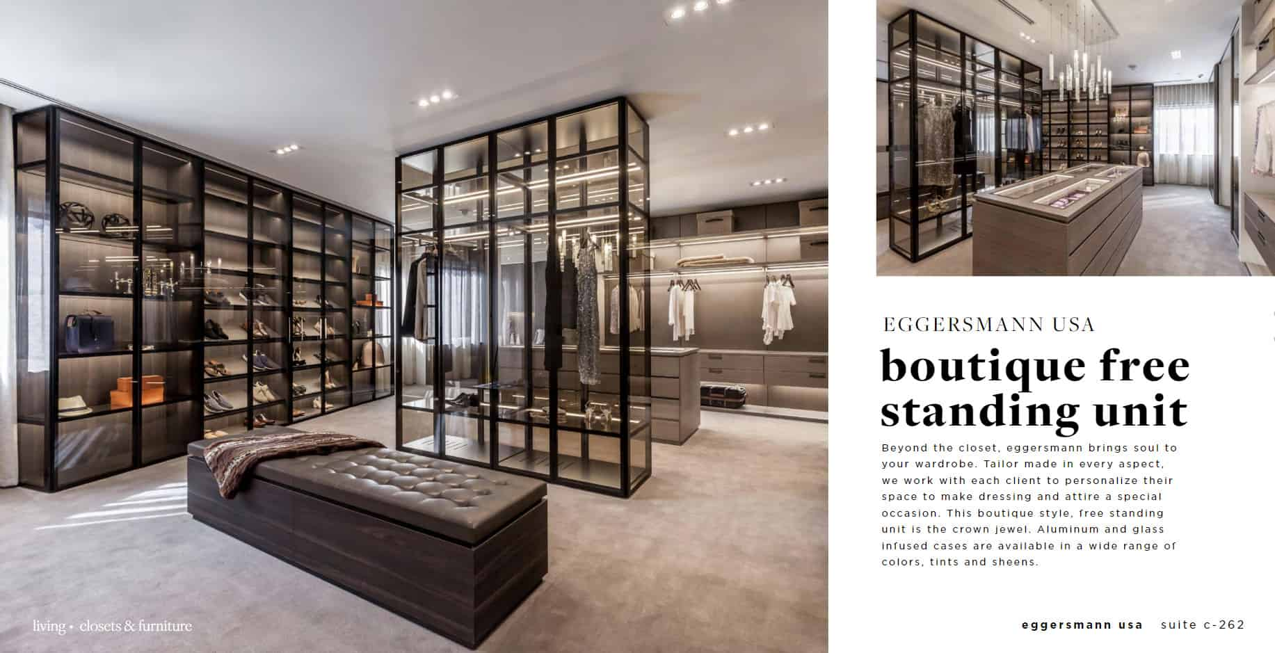 eggersmann closets featured in south florida's design center of the americas' spring look-book 2019