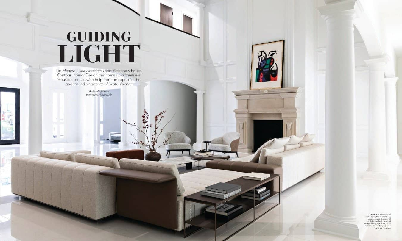 modern luxury interiors texas april 2019 issue features texas showhouse that was a remodeled classic manse with a modern twist