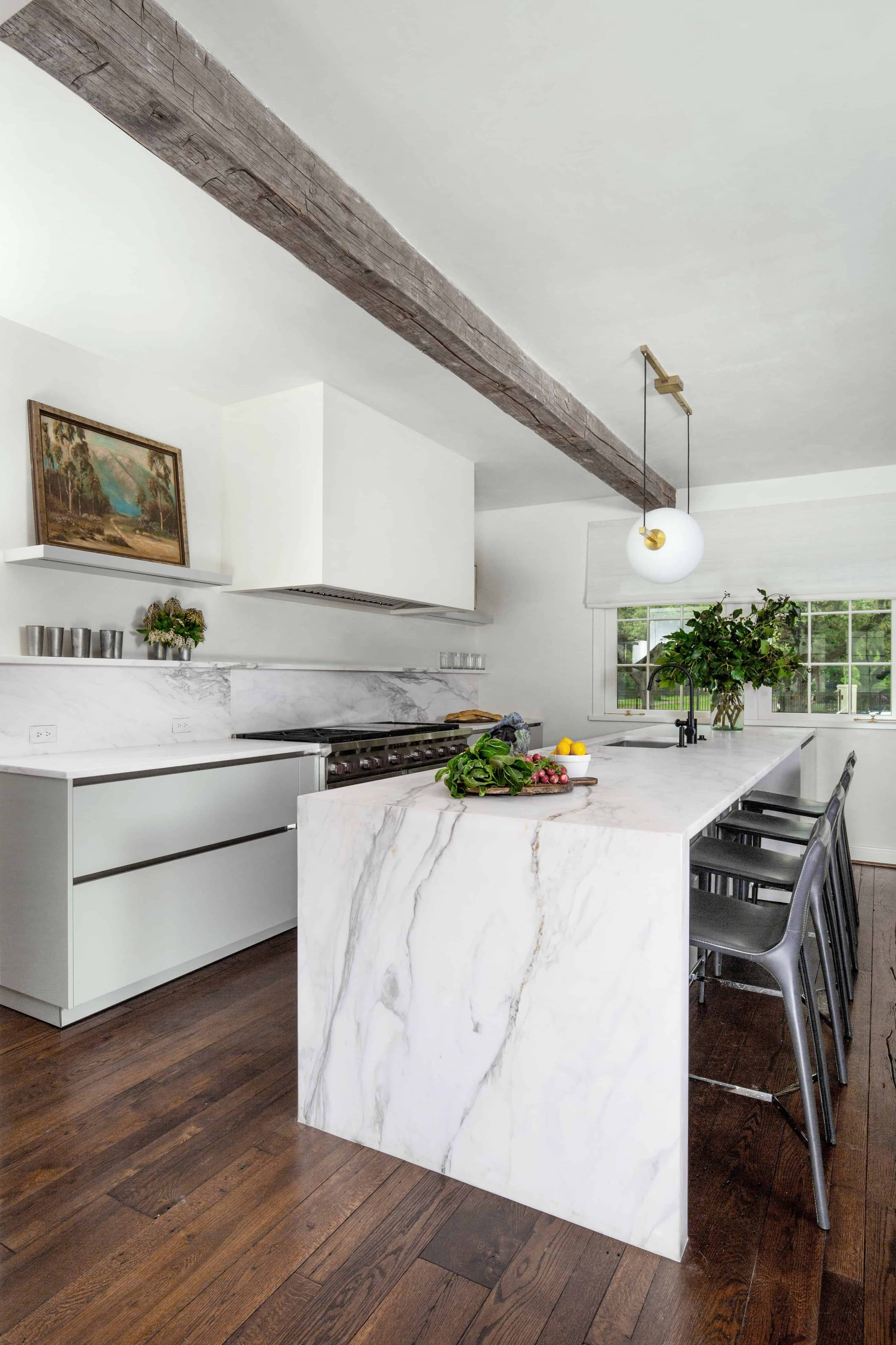 casual dining in eggersmann german kitchen featured in remodel of a home in the Houston Museum district