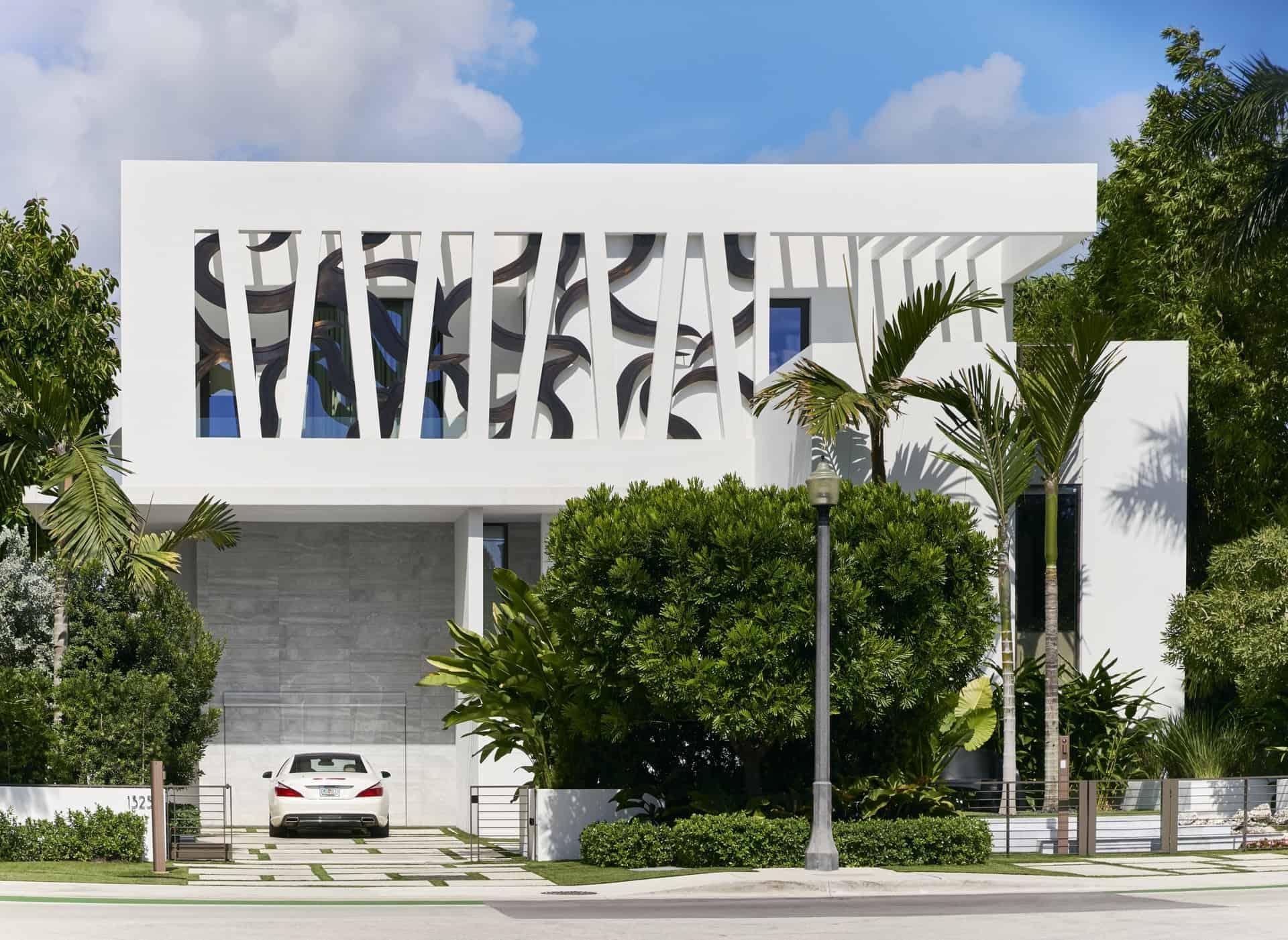 Modern Miami home facade