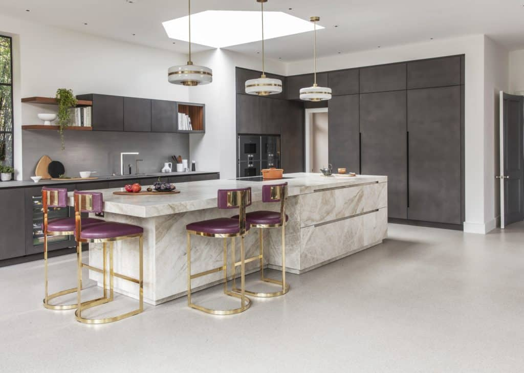 overview of bespoke german kitchen which is part of the project nominated for sbid international design award 2019