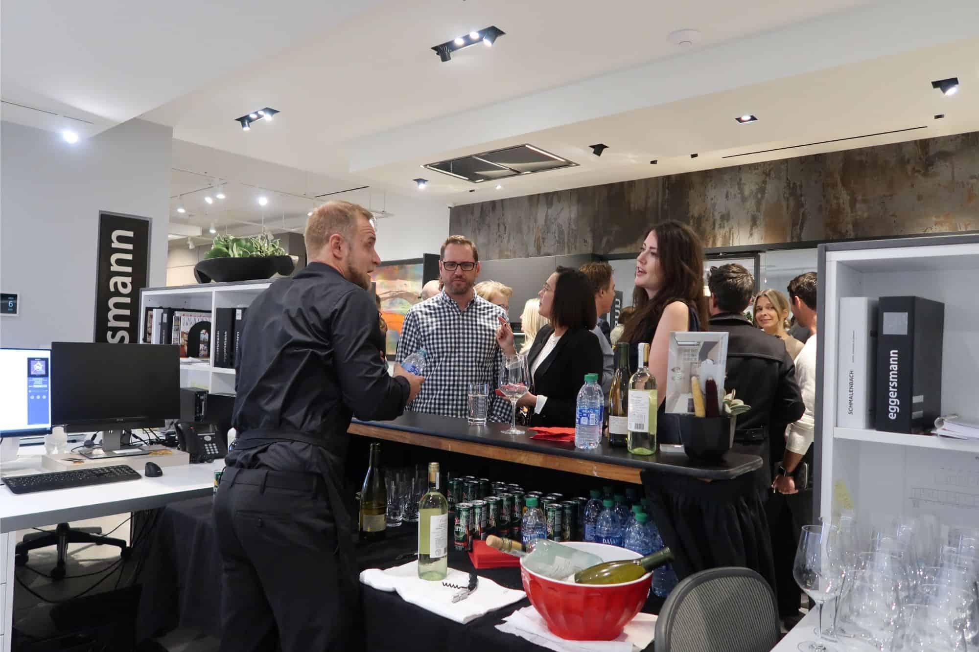 designers enjoying a visit before the making function fabulous event at eggersmann la