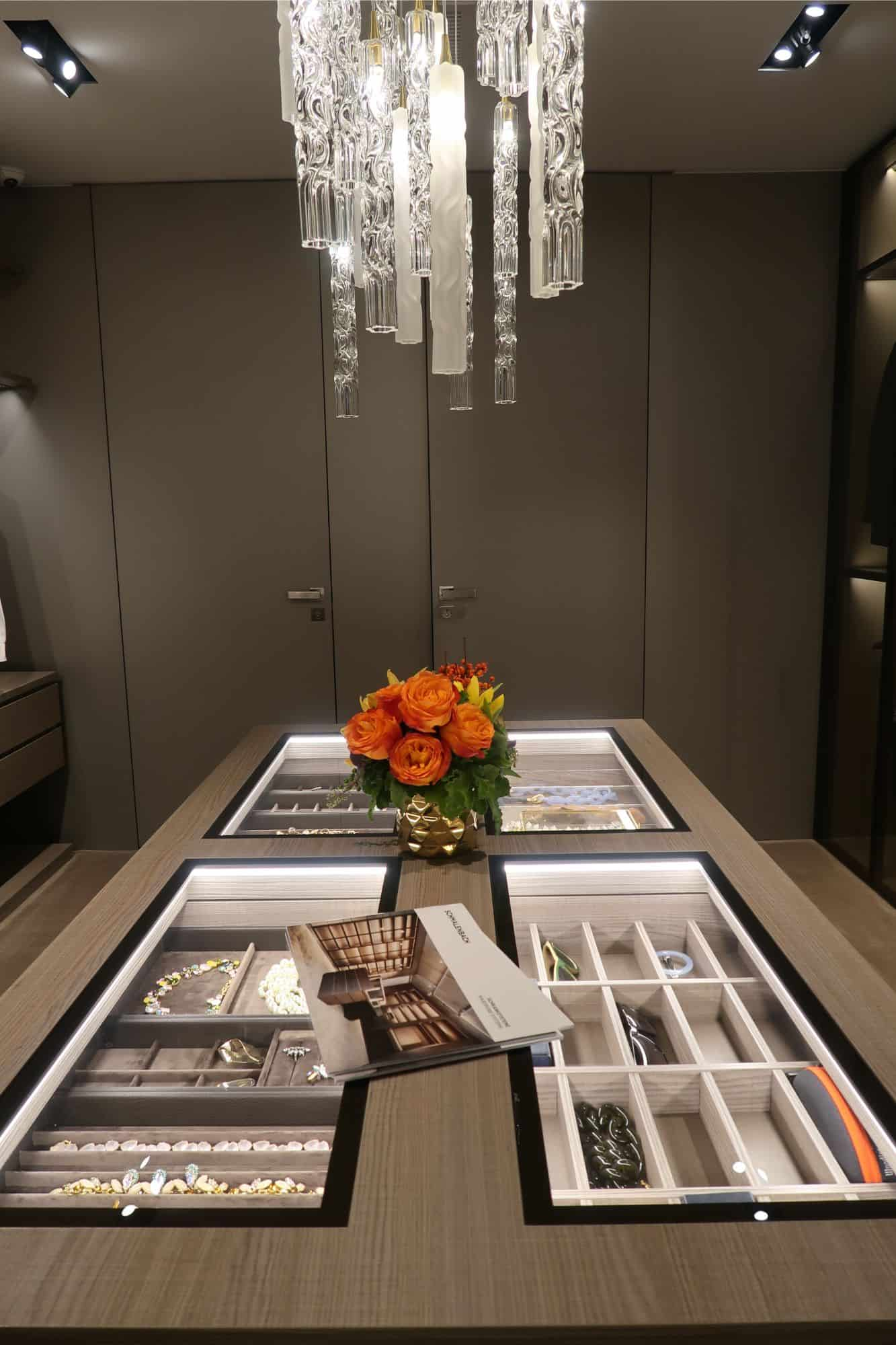 luxury touches in walk-in closet at making function fabulous event at eggersmann la