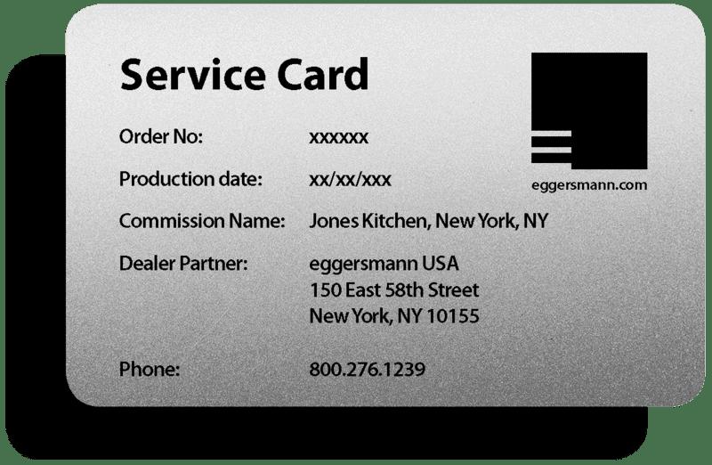 eggersmann warranty card