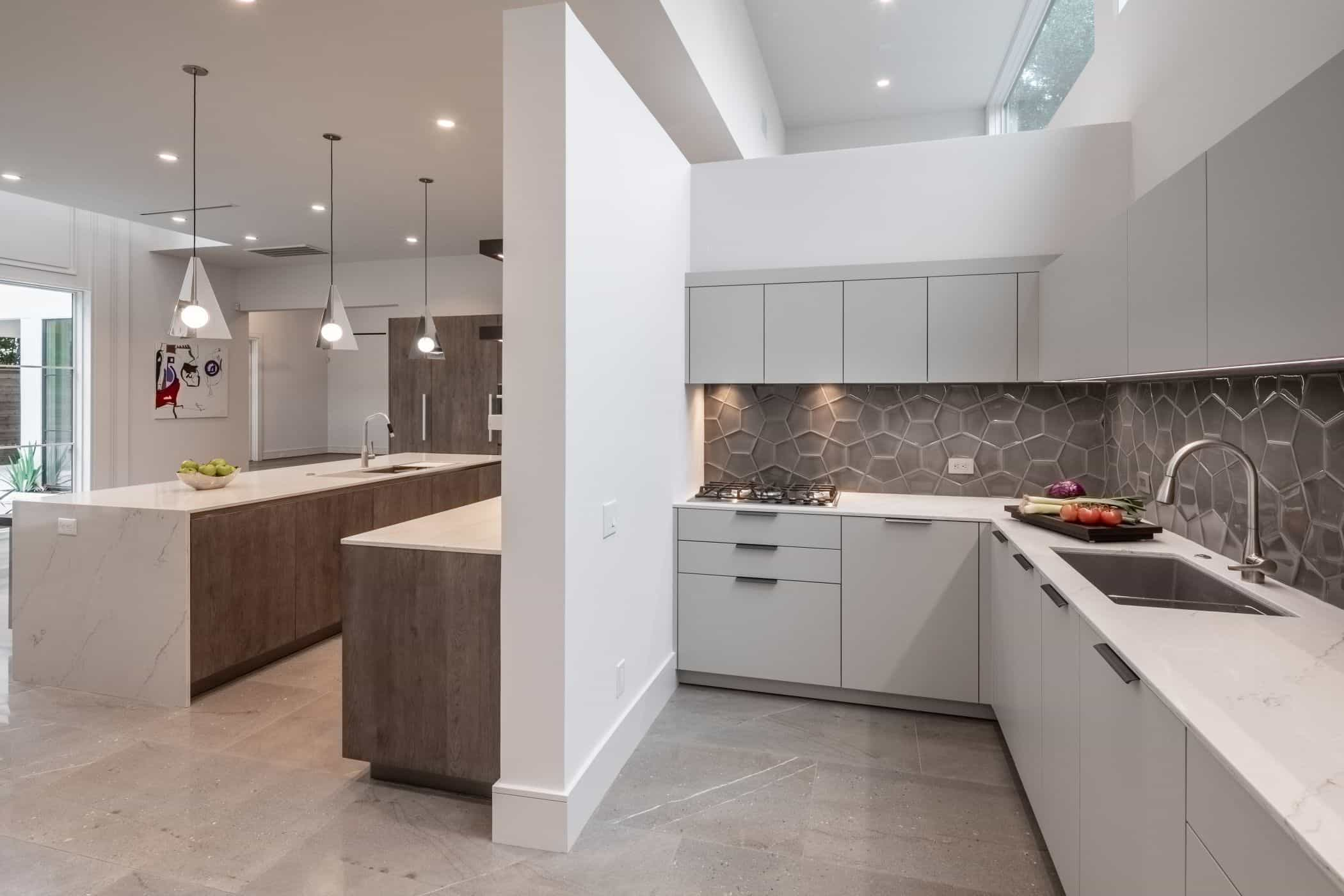 catering kitchen designed by eggersmann for a washington coalition memorial park area home in houston