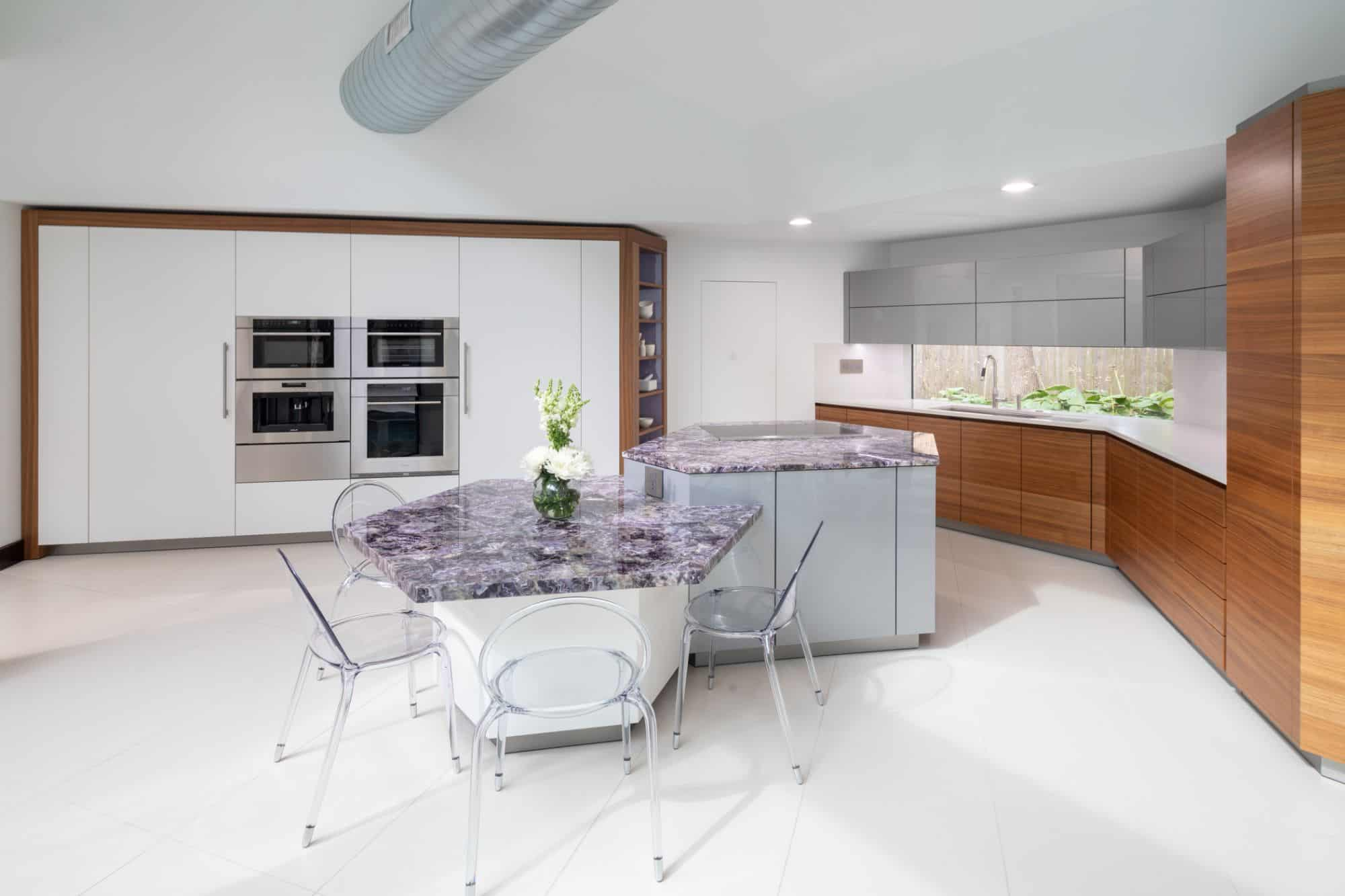 light bright with lots of contrasting textures in this ultramodern kitchen by eggersmann