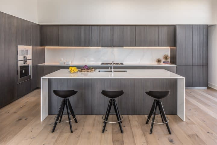 luxury german kitchen by eggersmann in the penthouse condo unit 801 of the mond at the museums