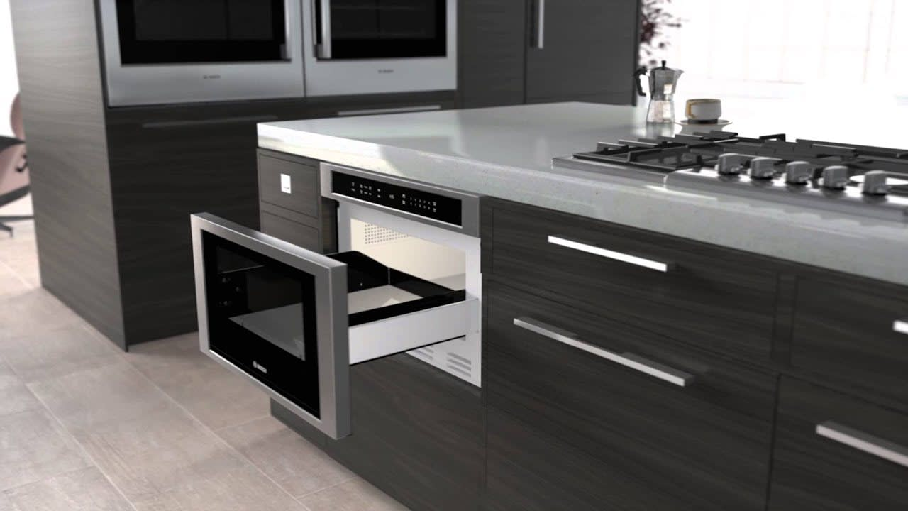 800 Series Drawer Microwave used in the parklane kitchens by eggersmann