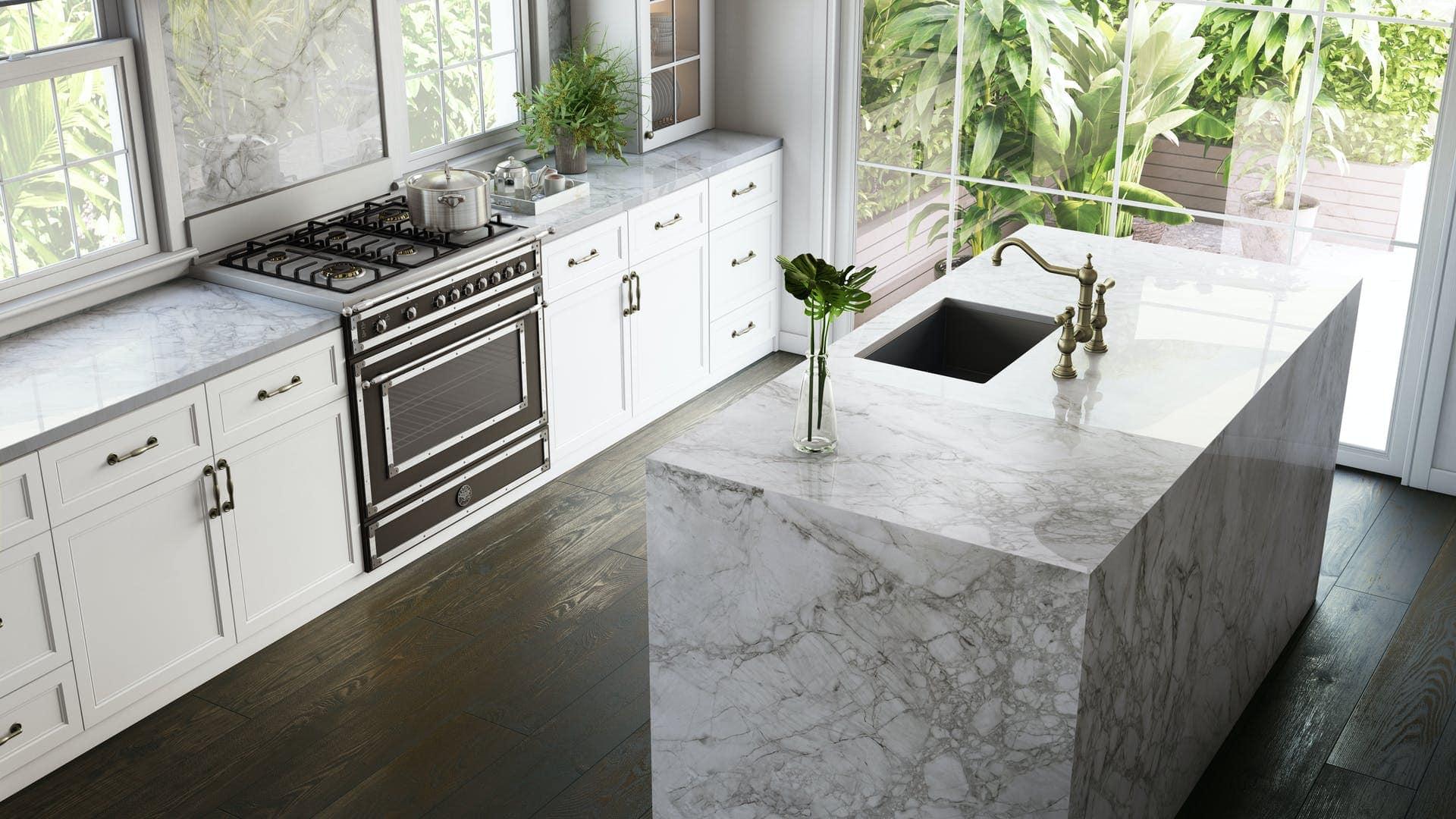 dekton bergen countertops used in eggersmann-designed baths of the parklane luxury condos