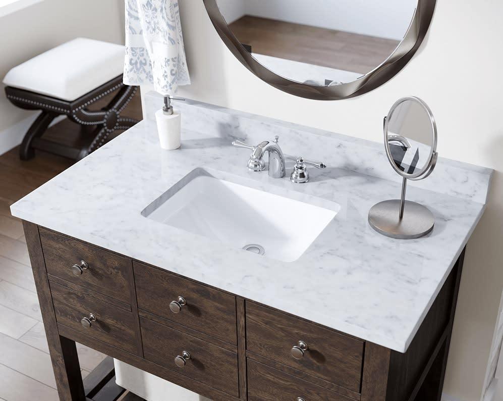 revere porcelain bath sink installed in all eggersmann-design baths in the parklane luxury condos
