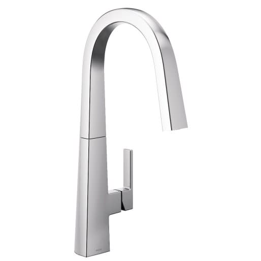 Moen Nio Chrome kitchen faucet used in eggeresmann designed kitchens in luxury high rise condos in The Parklane in Houston