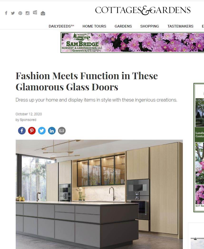 eggersmann glass featured in Cottages & Gardens