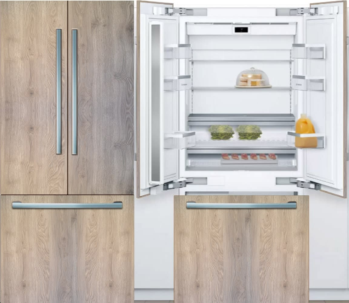 Benchmark® Series Built-in Bottom Freezer French Door Refrigerator used in the parklane kitchens by eggersmann