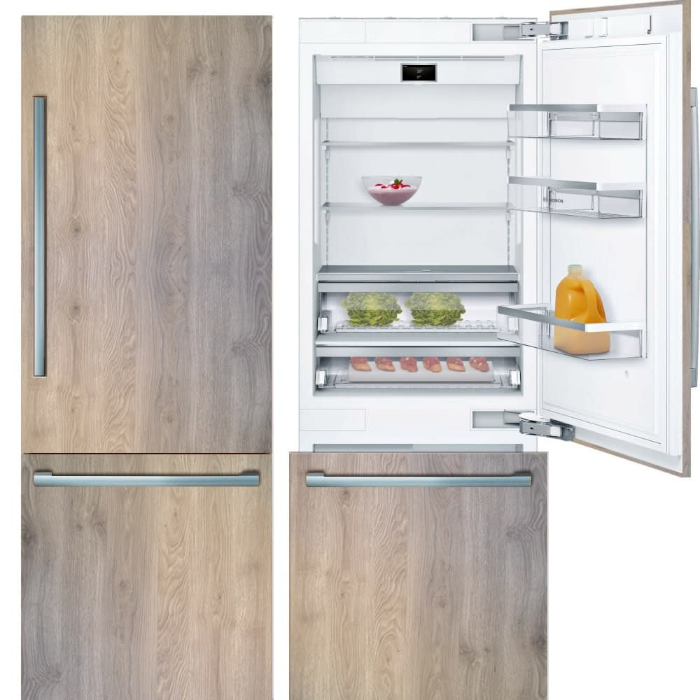 Benchmark® Series Built-in Bottom Freezer Refrigerator used in the parklane kitchens by eggersmann