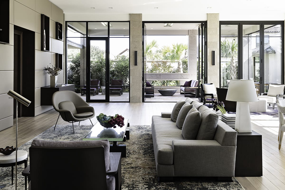 living area of a southwest contemporary kitchen designed by eggersmann dallas