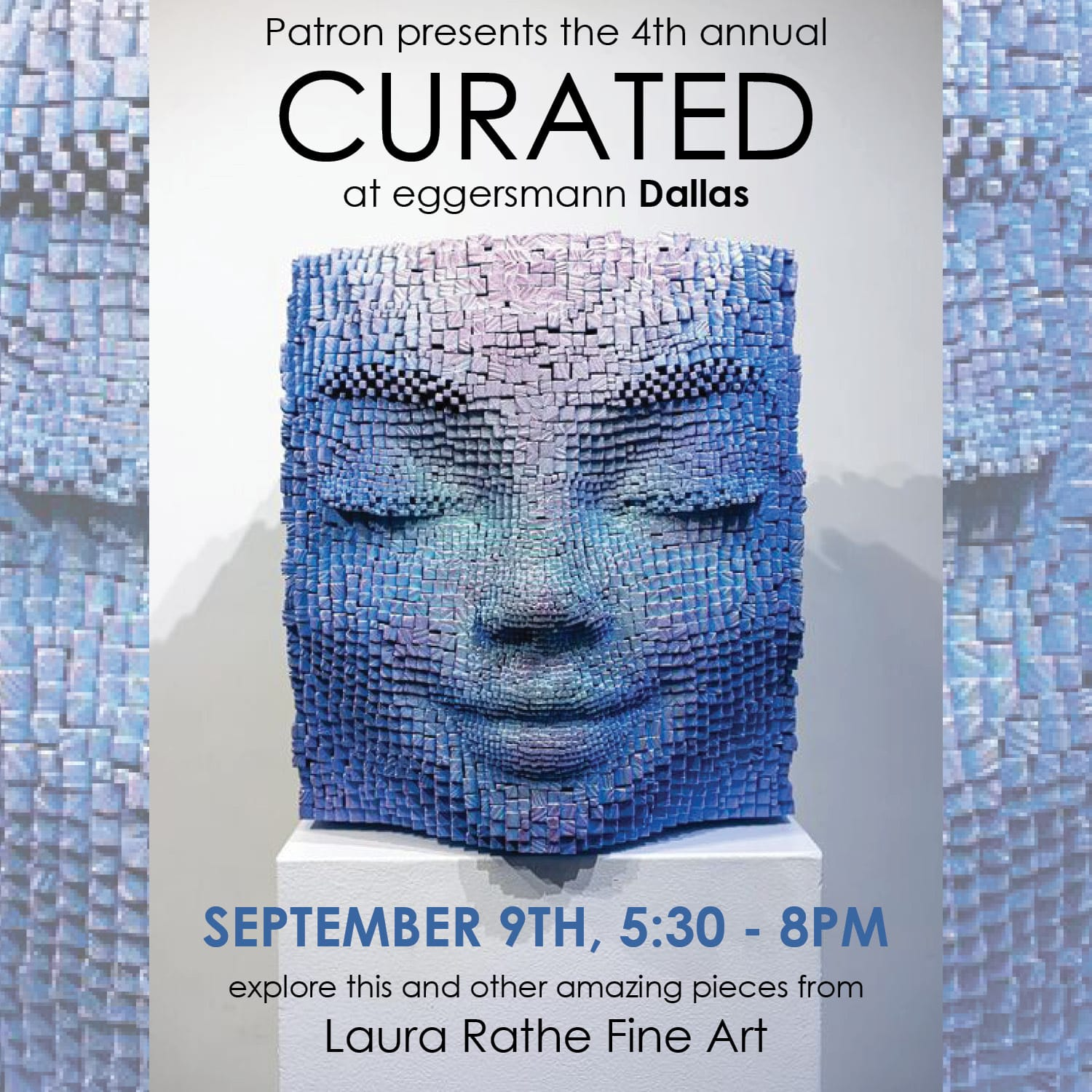 announcement for eggersmann dallas curated event in september 2021