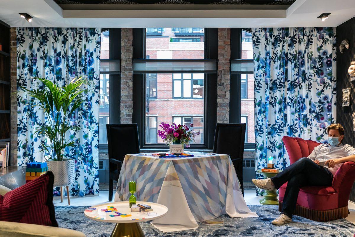 interior design vignette designed by sarah jacquelyn interiors for the fall rndd gallery walk that won best vignette