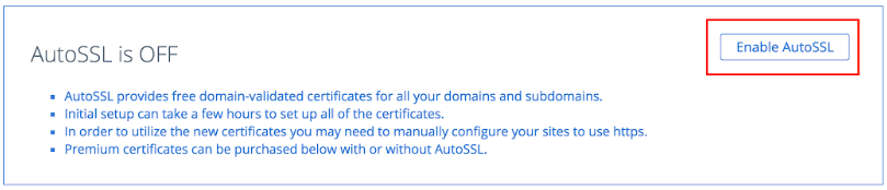 How to Manage AutoSSL - Bluehost