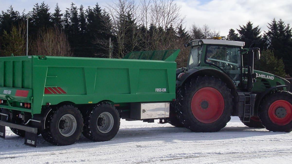 Traktorhenger og dumper