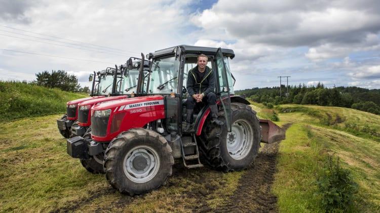 Perfekt til grashøsting og skogsarbeid