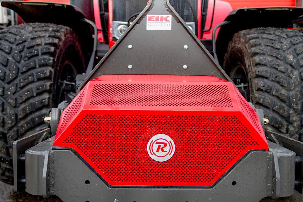Slik ser GKN Traktor Retarder fra GKN Land Systems ut forfra når dekselet er på. Foto: Lars Ovlien.