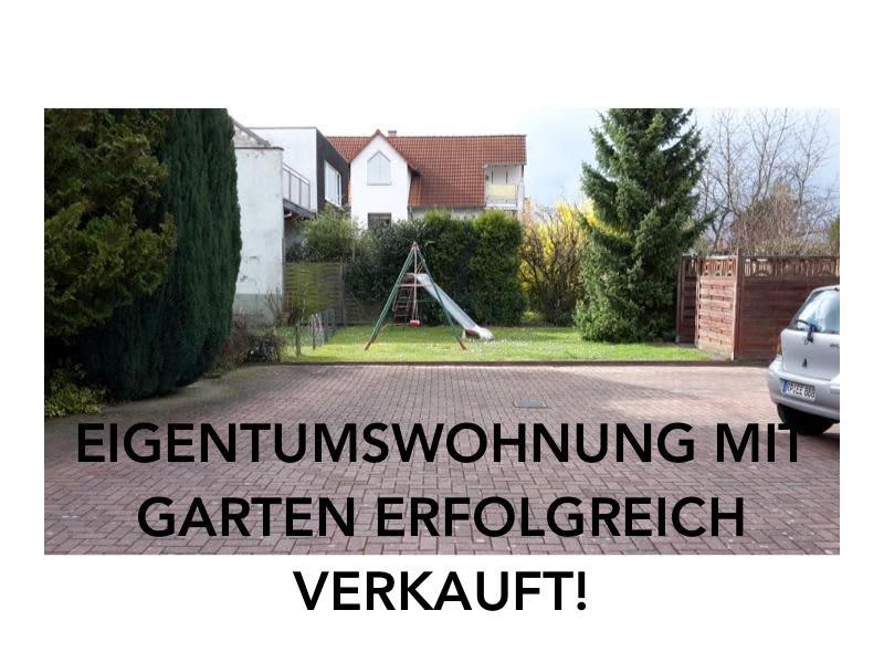Eine Eigentumswohnung im Erdgeschoss mit eigenem Garten erfolgreich verkauft!
