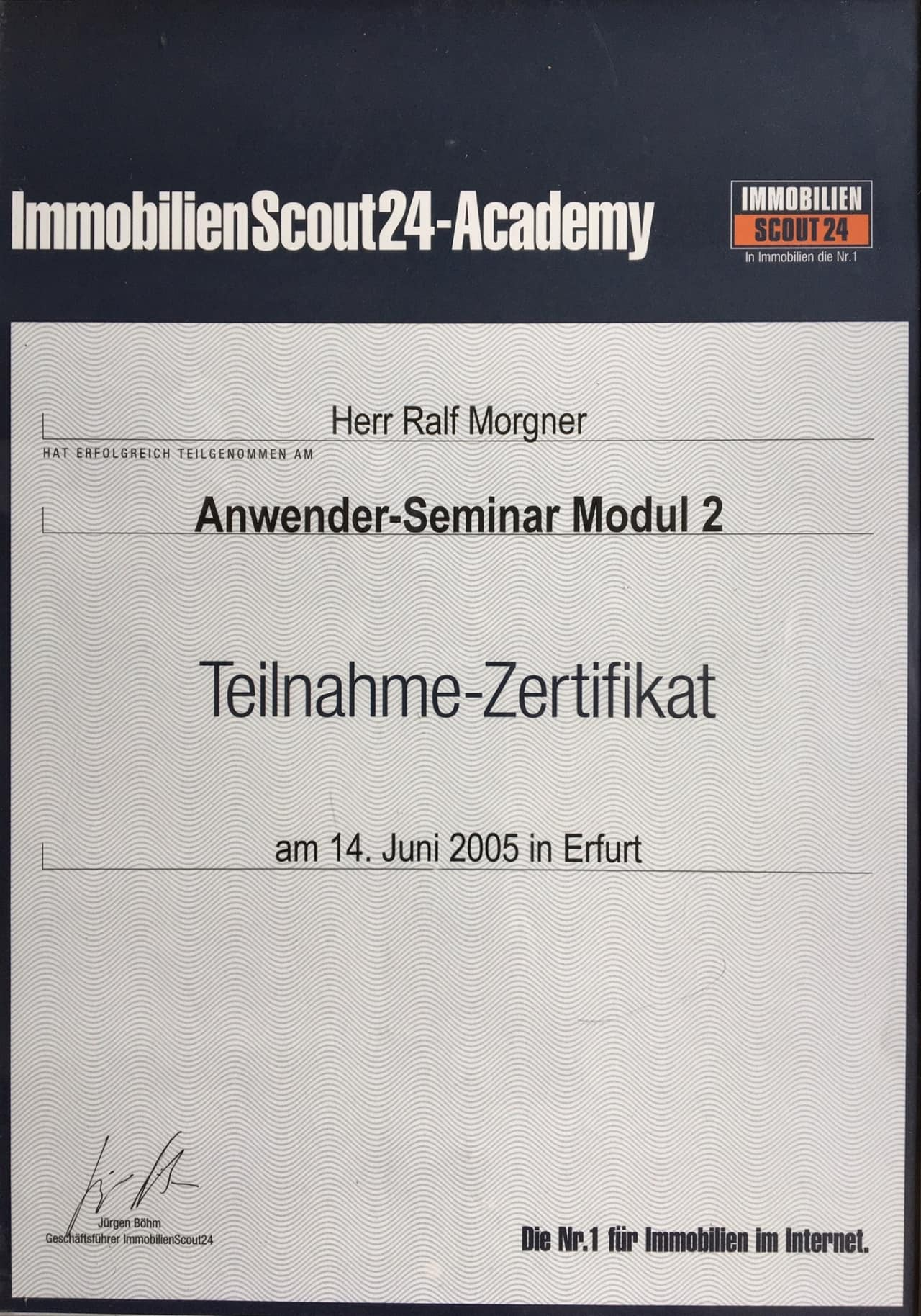 Immobilenscout24 Academy: Anwender-Seminar Modul 2