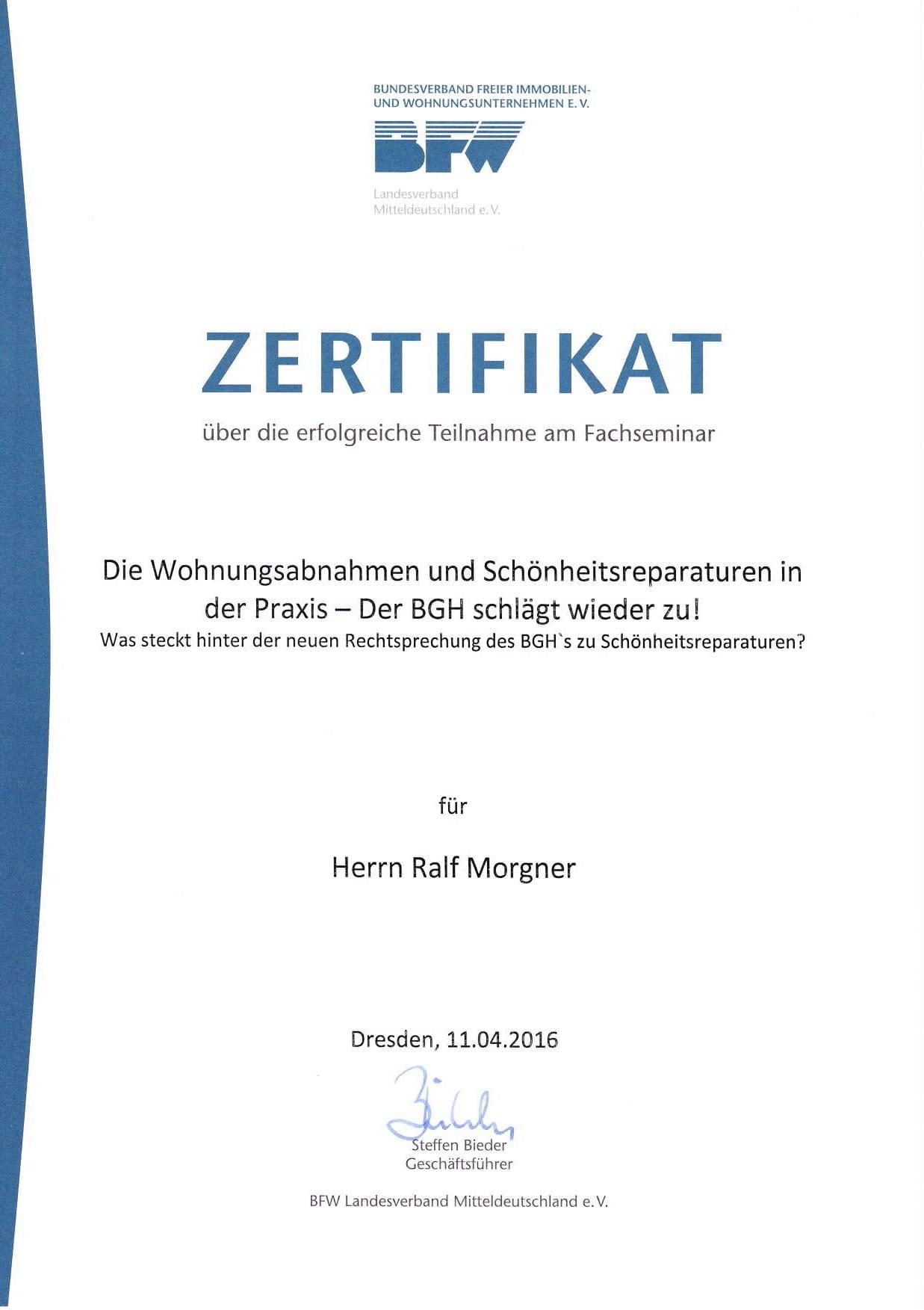 Die Wohnungsabnahmen und Schönheitsreparaturen in der Praxis - Der BGH schlägt wieder zu!