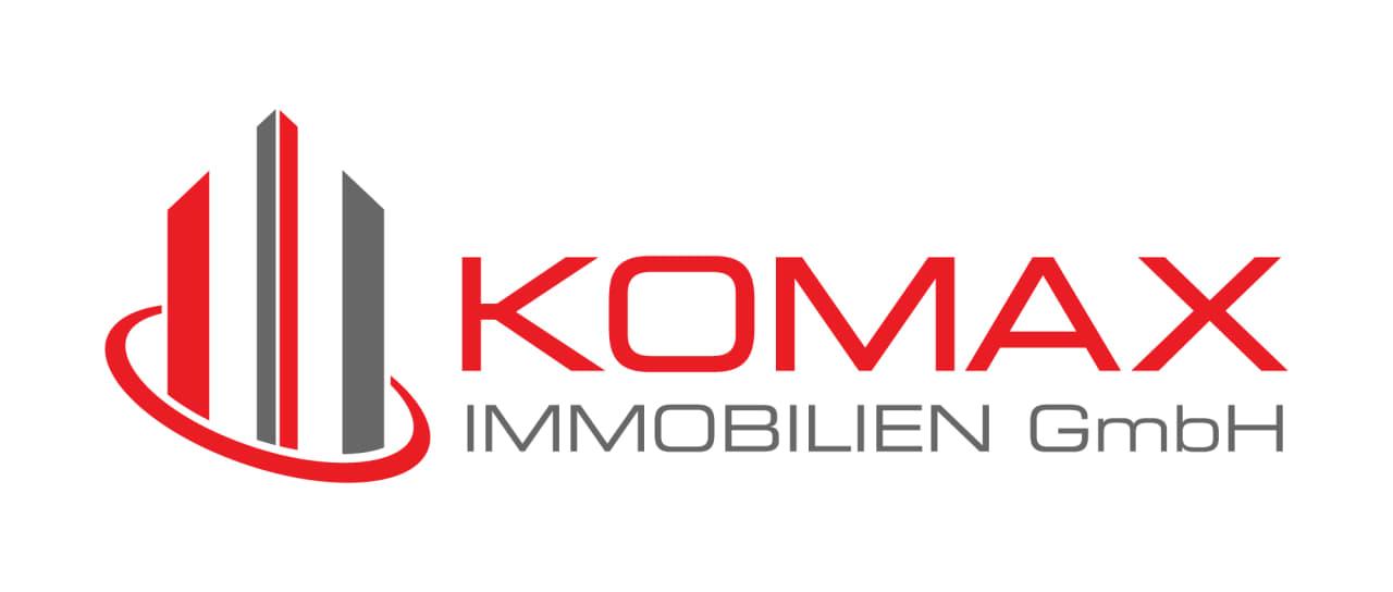 Hier sehen Sie das Logo von Komax Immobilien.