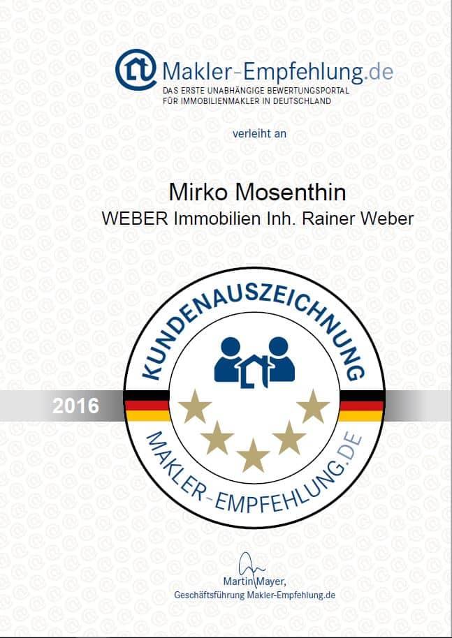 Maklerempfehlung 2016